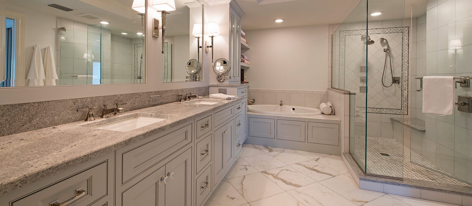 Transitional Bathroom Gallery. Transitional Bathrooms   Allure Cabinetry  amp  Showroom